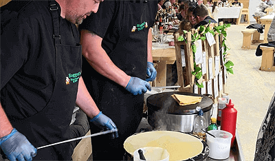crepe service hire wales