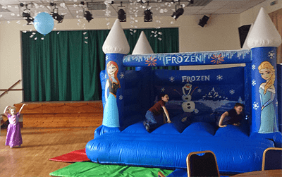 frozen bouncy castle hire hhr