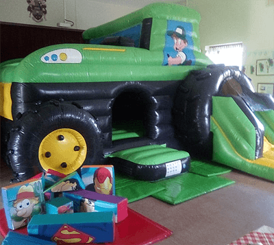 tractor bouncy castle hire wales